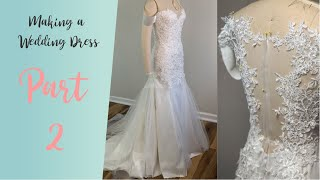 DIY Wedding Dress | Wedding Dress With Lace Appliques 2