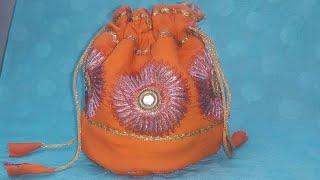 Batuwa Ll Potli Bag Cutting And Stitching Ll Handmade Bag By ShreeBhgwati