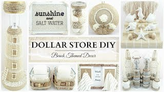 10 Dollar Store DIYS ~ NEUTRAL Beach Themed Decor Crafts! ~ Simple & Elegant!