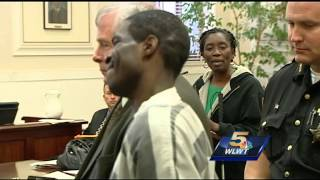 Convicted killer laughs as victim's sister addresses court at sentencing