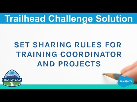 Set Sharing Rules for Training Coordinator and Projects | Salesforce ...