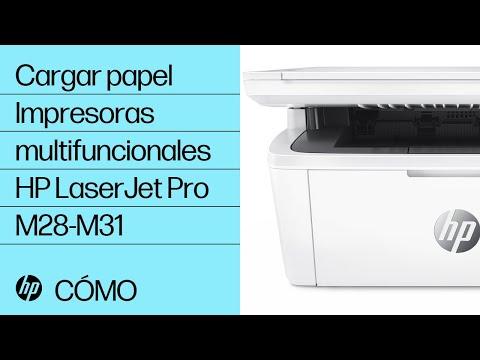 Cómo cargar papel en las impresoras multifuncionales HP LaserJet Pro M28-M31