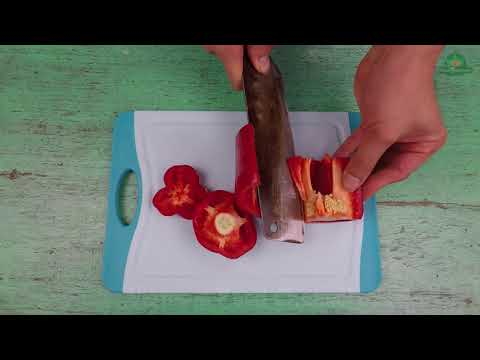 How to remove the seeds from bell pepper