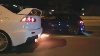 500+HP Civic Street Racing!!!