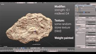 TIP - Modeling Stones with the Displace Modifier