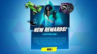CLAIM 5 FREE REWARDS NOW! (Fortnite Battle Royale)