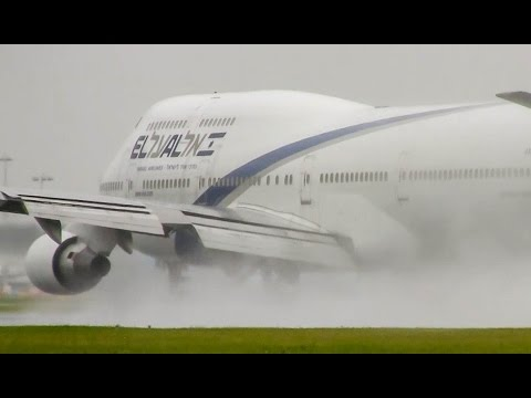 Spectacular HEAVY Rain Take Offs! Plane Spotting At Schiphol Amsterdam Mp3