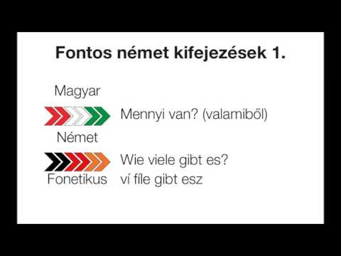Fontos német kifejezések kezdőknek 1 - Wichtige deutsche Ausdrücke für Anfänger 1 letöltés