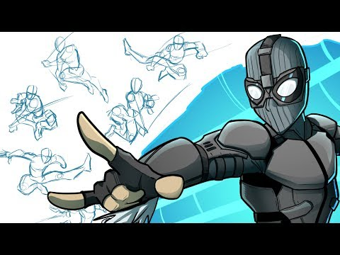 Tips for Drawing Dynamic Poses (ft. Spider-man's Far From Home Stealth Suit)