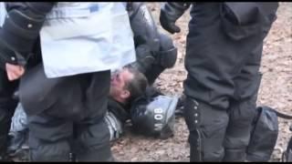 Беркут горит \ Ukrainian police is on fire Kiev 19.01.2014