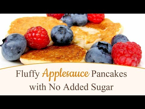 Fluffy Applesauce Pancakes with No Added Sugar
