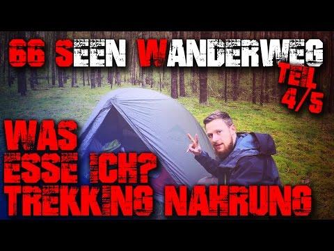 4/5 - WAS ESSE ICH? TREKKING NAHRUNG - 66 Seen Wanderweg - Tour Outdoor Wandern Bushcraft Survival