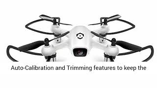 Amcrest A4-W Skyview WiFi Drone with Camera HD 720P FPV Quadcopter, Training Drone for Beginner