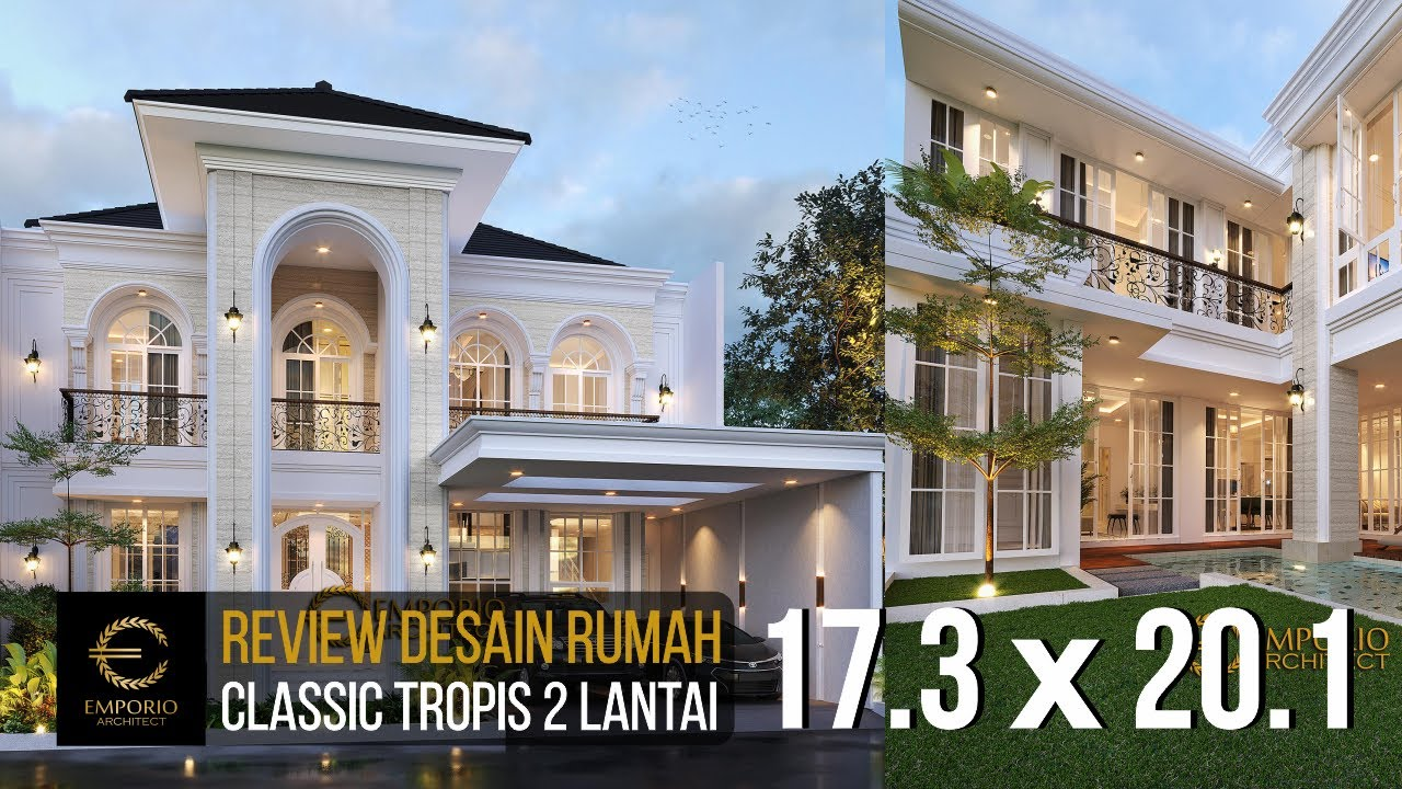 Video 3D Mrs. Dian Classic House 2 Floors Design - Tangerang Selatan, Banten