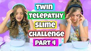 Twin Telepathy Slime Challenge Again!  Rachel vs Annelise!