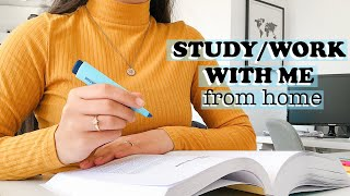 CAN'T FOCUS AT HOME? STUDY/WORK WITH ME FOR 60 MINUTES!