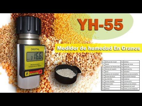 Granos + Cafe Medidor de Humedad+Tempertura 24 Diferentes granos