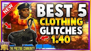NEW GTA 5 Top 5 Clothing Glitches 1.40! POLICE BELT Glitch, SAVE JUGGERNAUT Pants, Transfer ANY LOGO