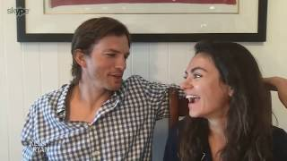 Ashton Kutcher & Mila Kunis Talk About How They're Handling Quarantine