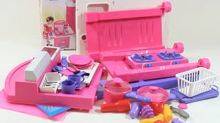Cooking Breakfast Kitchen Set for Girls - Omelette, Soup, Bread, Toast, Juice - Playing Velcro Toys