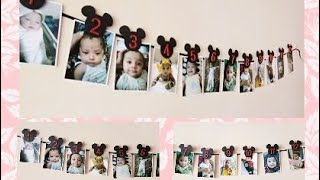 MICKEY MOUSE SPECIAL: EASY DIY PHOTO PROJECT FOR BABYS  FIRST BIRTHDAY