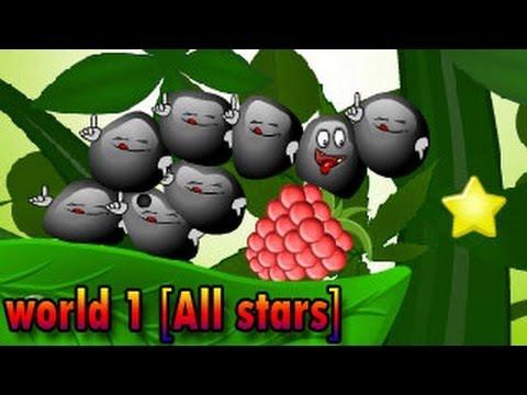 Sticky Blobs Walkthrough World #1 [ Full, All Levels 1-15, All Stars ]