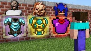 КАКУЮ СТРАШНУЮ БРОНЮ ВЫБЕРЕТ НУБ В МАЙНКРАФТ? Бабушка Гренни, Кукла Чаки и Соник Убийца в Minecraft