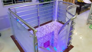 Ss Steel Railing Balcony Glass And Led Light Design Part1 এস এস রেলিং