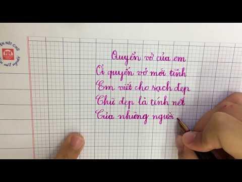 Bé viết chữ đẹp