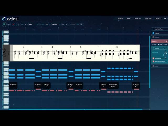 Odesi tutorial - Daft Punk - One More Time (Chords, Melody and Bassline)