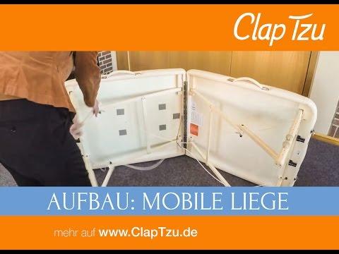 Aufbauanleitung für mobile Massageliegen Clap Tzu Classic Pro Set