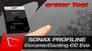 SONAX CERAMIC COATING CC EVO erster Test - Anwendung Lackauffrischung Abperlverhalten Langzeittest