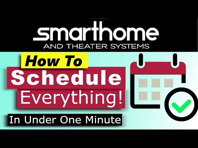 Crestron Home OS How to Create Scheduled Macro in under 1 minute