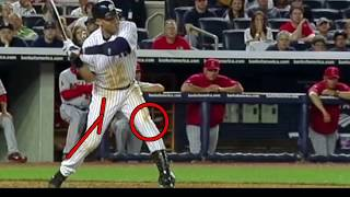 C.U.D.I.T. Concentric Hitting Step 3: Derek Jeter Slow Mo Swing- Baseball Softball Batting Analysis
