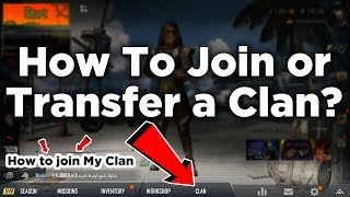 How to Join a clan in PUBG | How to Transfer / Change a CLAN in PUBG