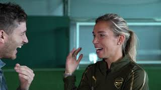 Gemma Davison Recreates Fara Williams Halfway Line Goal | Jordan Nobbs Humanity Test  | W90