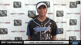 2021 Leah Richardson 3.83 GPA Power Hitting First Base and Outfield Softball Skills Video - Sorcerer