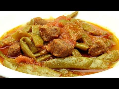 Receta de estofado de frijoles verdes y carne de res