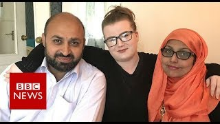 Theyre my mum and dad not terrorists BBC News Video