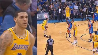 Lonzo Ball Takes Over With Stephen Curry Range In Final Minutes Of Overtime! Lakers vs Thunder