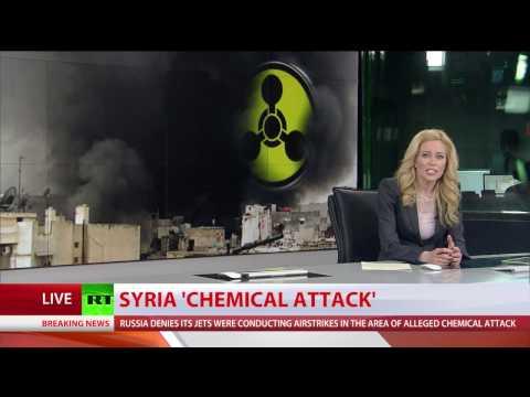 カーンShaikhoun、Idleb州の有毒ガス攻撃で傭兵-テロリストによって殺された数十人