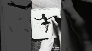 Чёрно-белая балерина в Тик ток