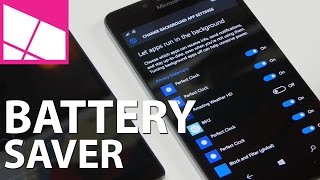 Lumia 950 & Windows 10 Mobile battery usage settings