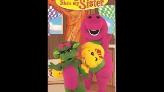 Opening & Closing To Barney:Oh Brother,She's My Sister 1998 VHS