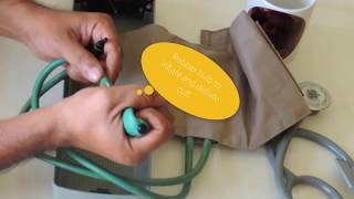 Measure Blood pressure using BP apparatus