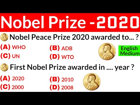 Nobel Prize 2020 | Nobel Prize 2020 in English | Awards and Honours | Current Affairs 2020 |GK Trick