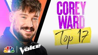 "Corey Ward Performs Lewis Capaldi's Emotional ""Bruises"" - The Voice Live Top 17 Performances 2021"