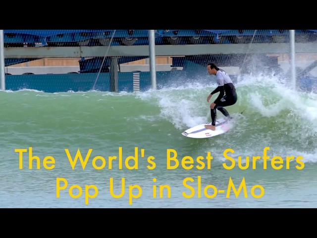 How the World's Best Surfers Pop Up (Slow Motion)