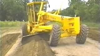 How to build a new road with a motor grader