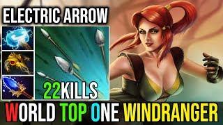 Epic More Than 1Kill Per Min [Windranger] Endless Electric Arrow 22Kills By Iceberg Dota 2 FullGame